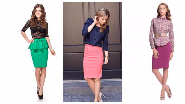 с чем носить юбку карандаш: цветные варианты