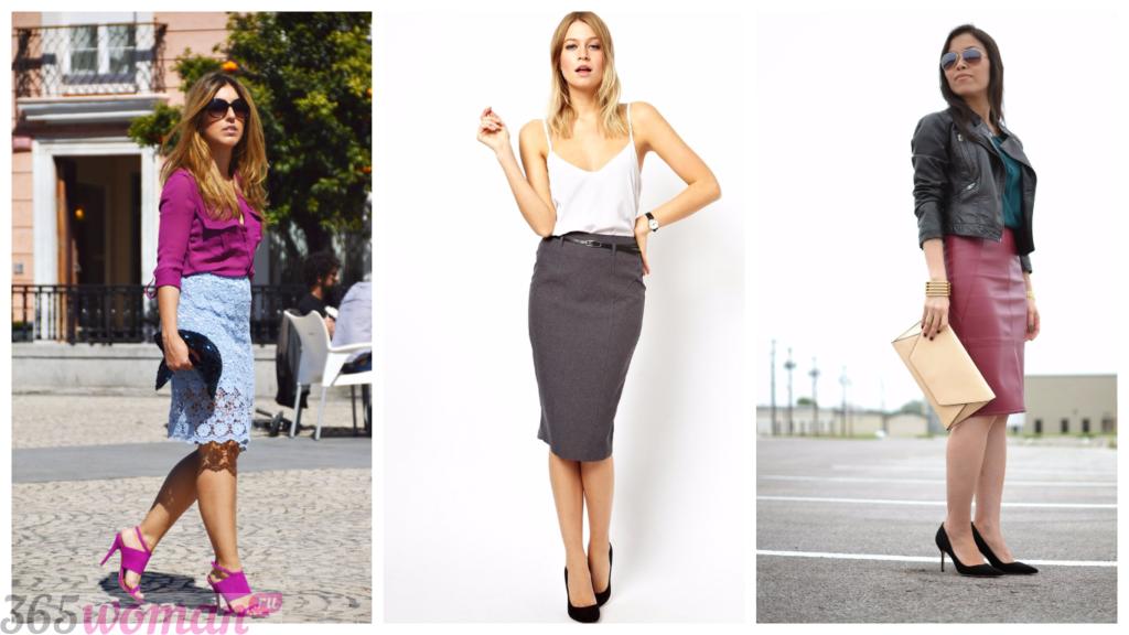 модная юбка-карандаш с чем носить