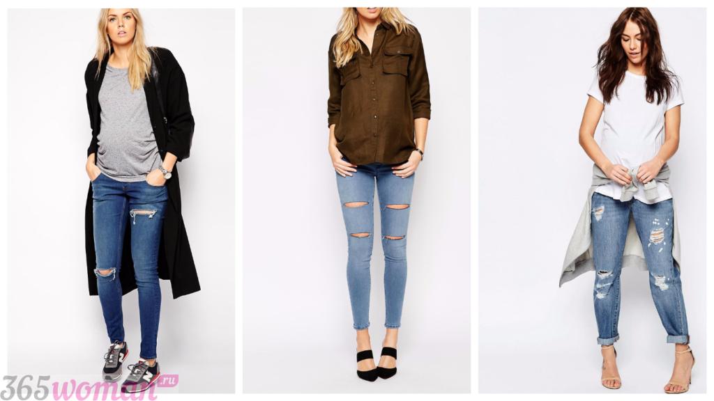 модные джинсы для беременных 2018