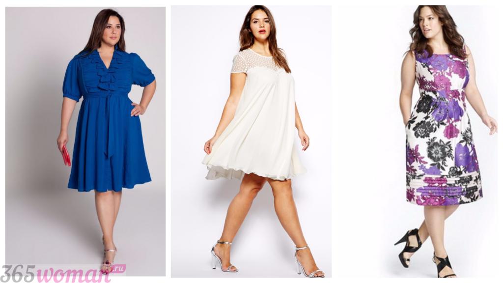 модные платья для полных весна-лето 2018