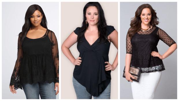 Мода для полных женщин весна-лето 2021: блузки