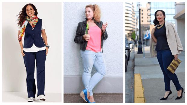 Мода для полных женщин весна-лето 2021: джинсы