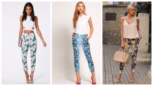 Модные женские брюки осень-зима 2019 2020: яркие с принтом