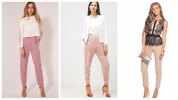 Модные женские брюки осень-зима 2019 2020: розовые бежевые