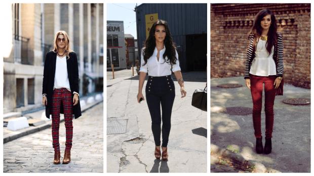 Модные женские брюки осень-зима 2019 2020: в клетку черные