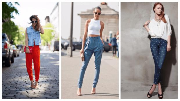 Модные женские брюки осень-зима 2019 2020: красные синие