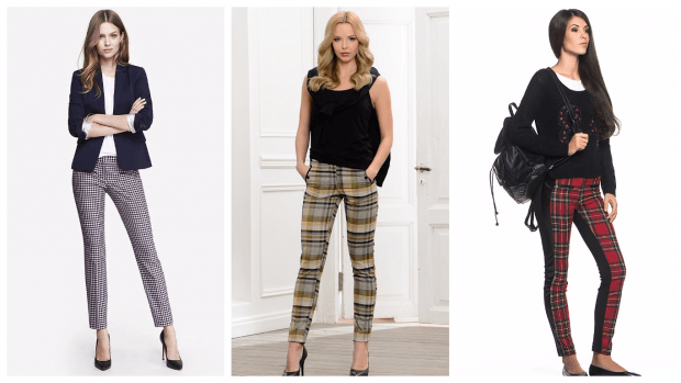 Модные женские брюки осень-зима 2019 2020: полоска клетка