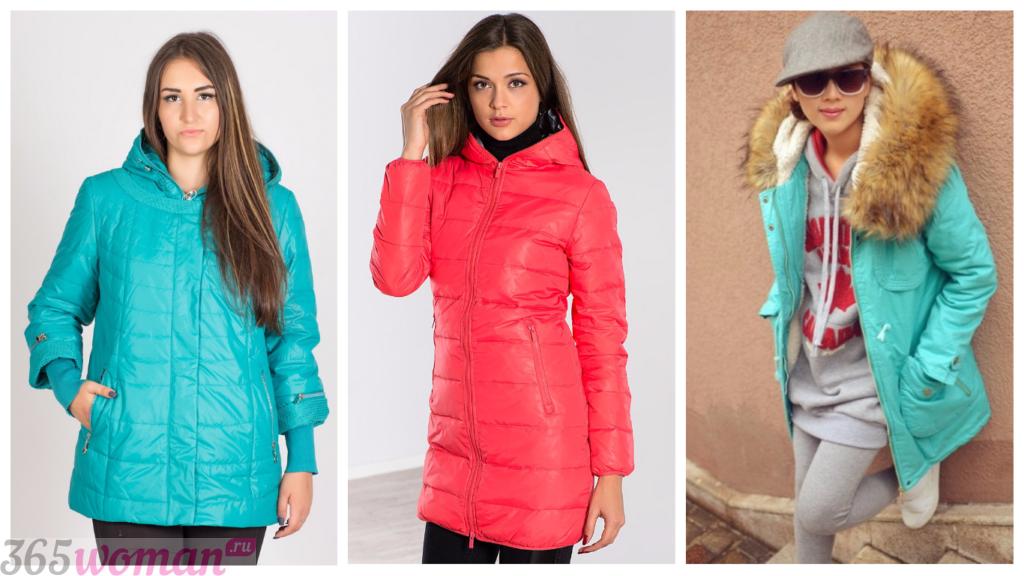 куртка осень зима женская 2018 2019: цветные модные