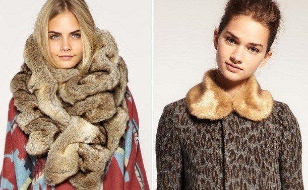 модные пальто с меховой горжеткой осень зима 2018 2019