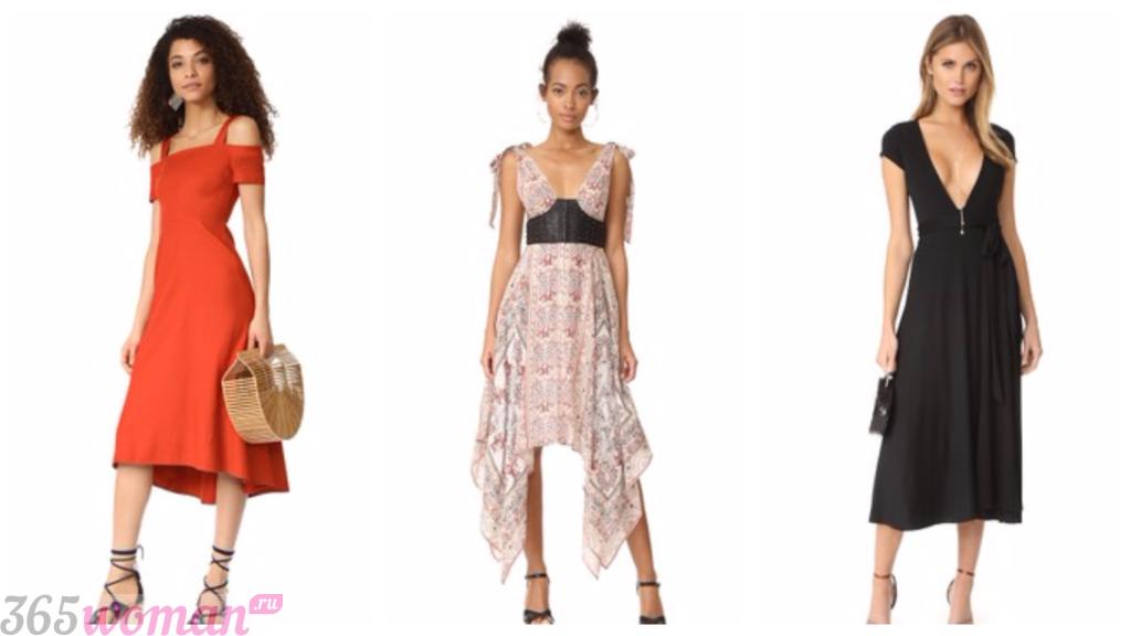 мода платья весна лето 2019: клубные