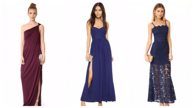 модные платья весна лето 2021: длинные синие