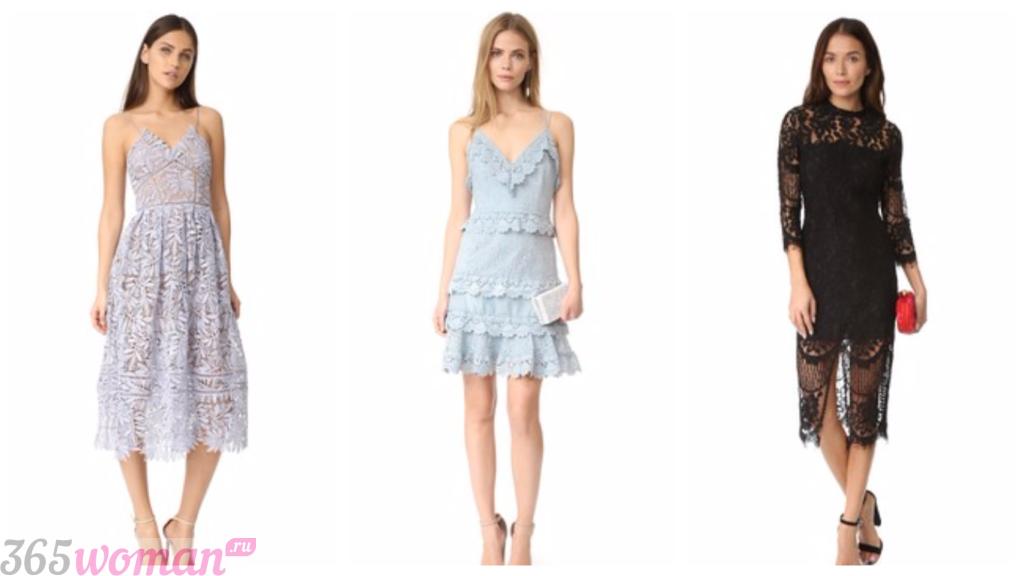 платья весна лето 2019 года фото: модные кружевные