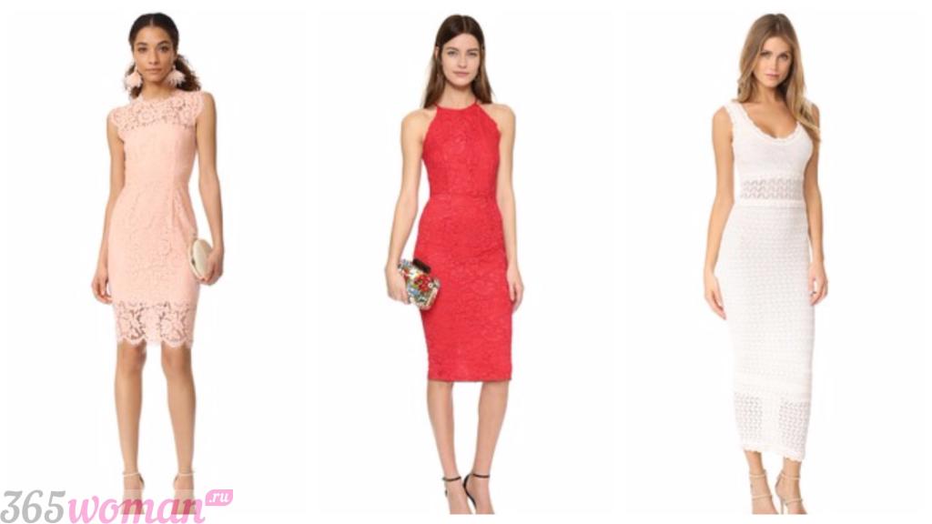 мода платья весна лето 2019: кружевные