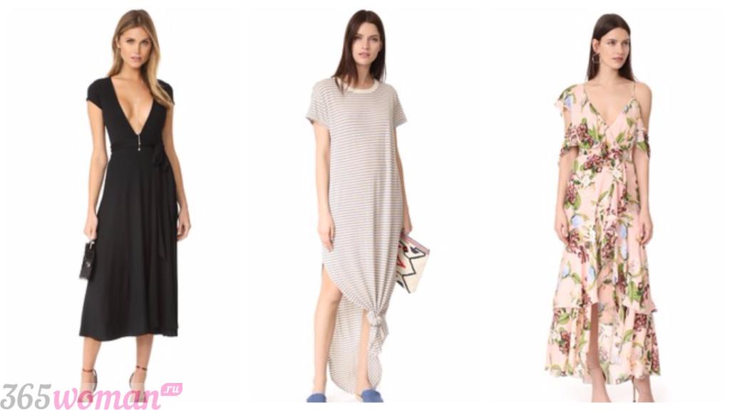 платья весна лето 2019: пижамы