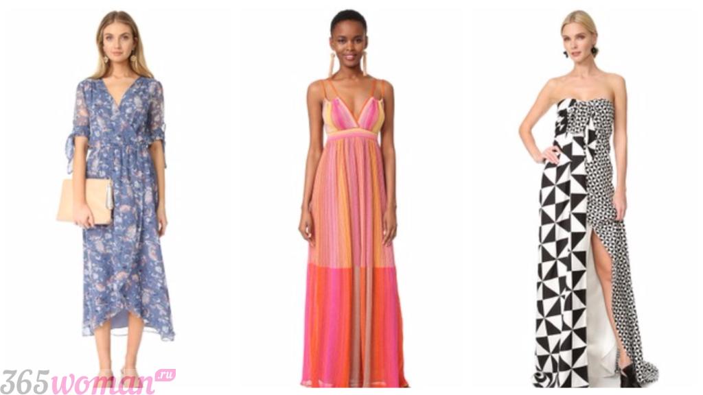 платья фасоны 2019 весна лето: в пол