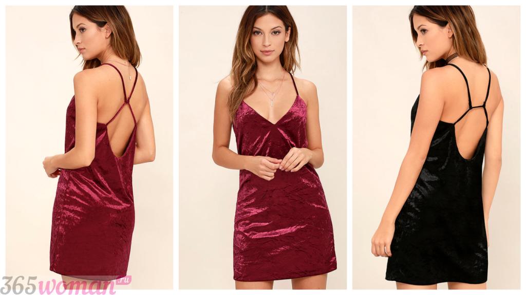 модные вечерние платья из бархата 2018-2019