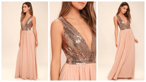комбинированное вечернее платье мода 2019-2020