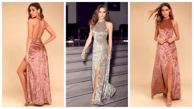модные вечерние платья из бархата 2019-2020