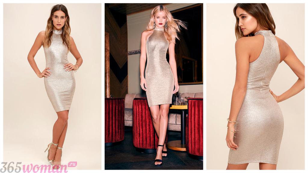 модные блестящие платья 2018-2019