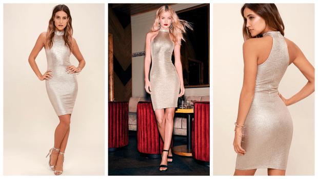 модные блестящие платья 2019-2020