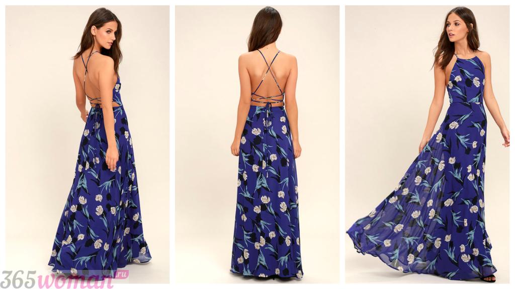 модные летние вечерние платья 2018-2019
