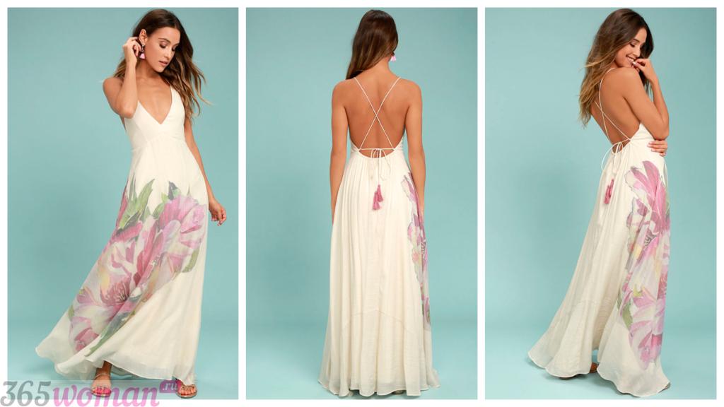 летние вечерние платья мода 2018-2019