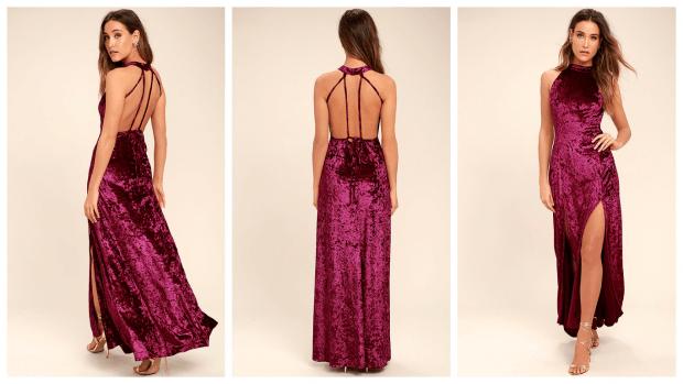 модное длинное вечернее платье 2019-2020
