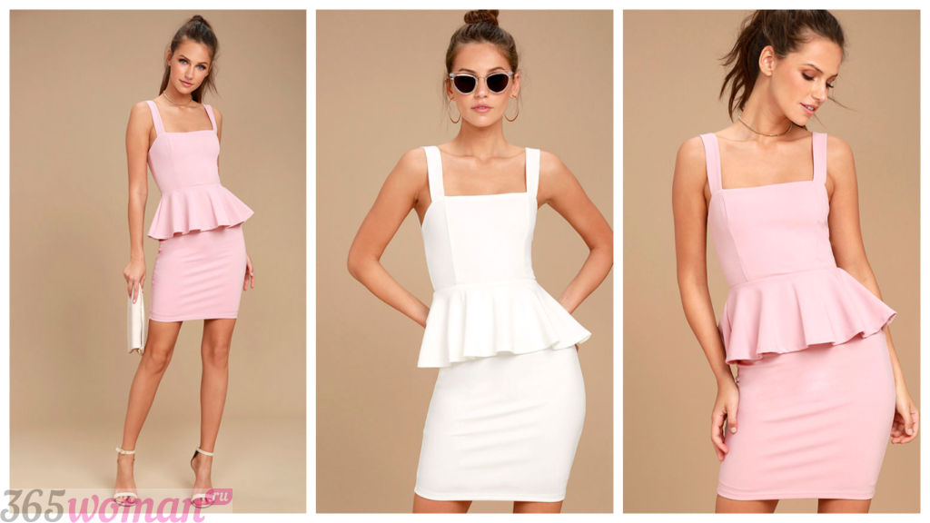 модные короткие платья 2018-2019