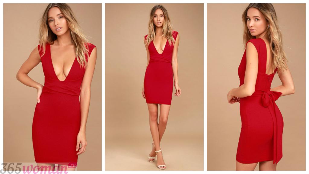 модные вечерние платье с декольте 2018-2019