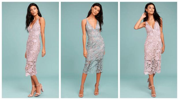 модные вечерние платья кружево 2019-2020