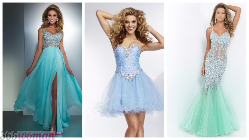 стильные яркие вечерние платья 2018-2019