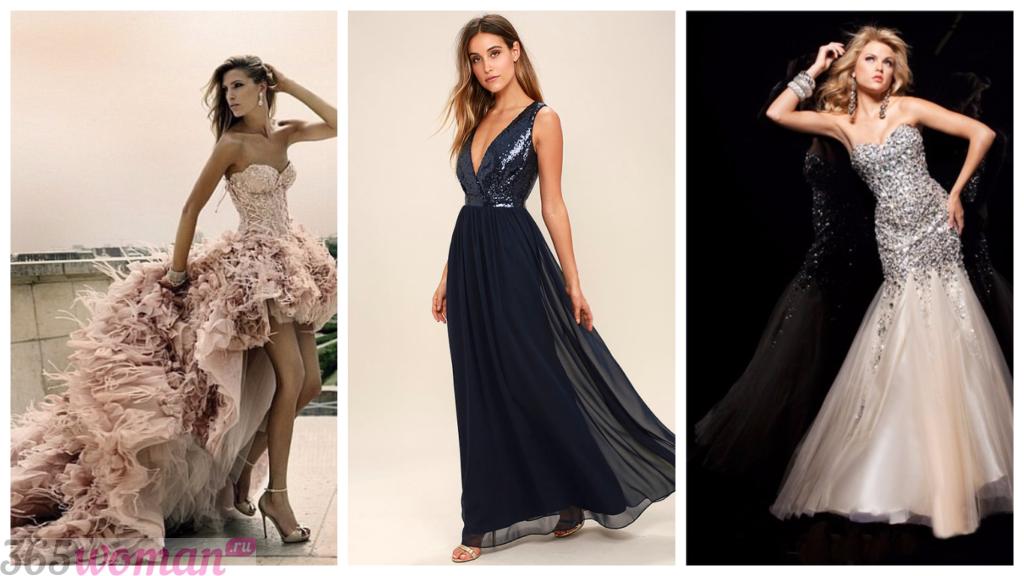 стильные платья со шлейфом 2018-2019