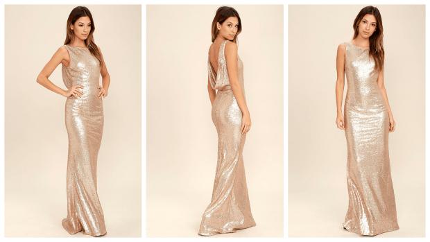 модные блестящие вечерние платья 2019-2020