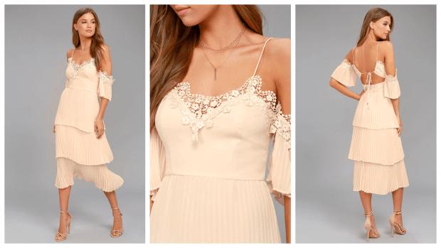 коктейльные платья 2019 2020 с открытыми плечами фото новинки цвет айвори