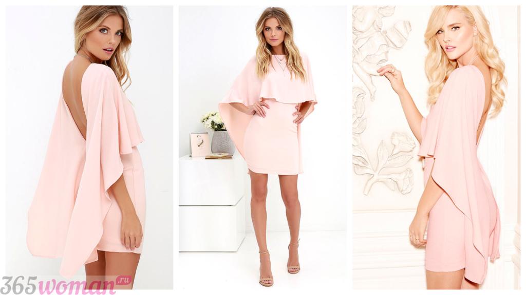 короткие коктейльные платья 2018 года розовое новинки фото