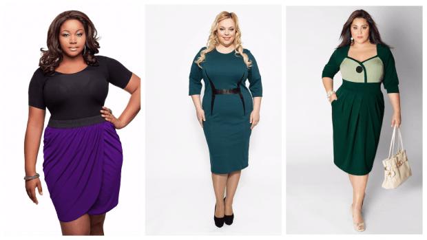 мода платья в офис для полных женщин 2019 2020