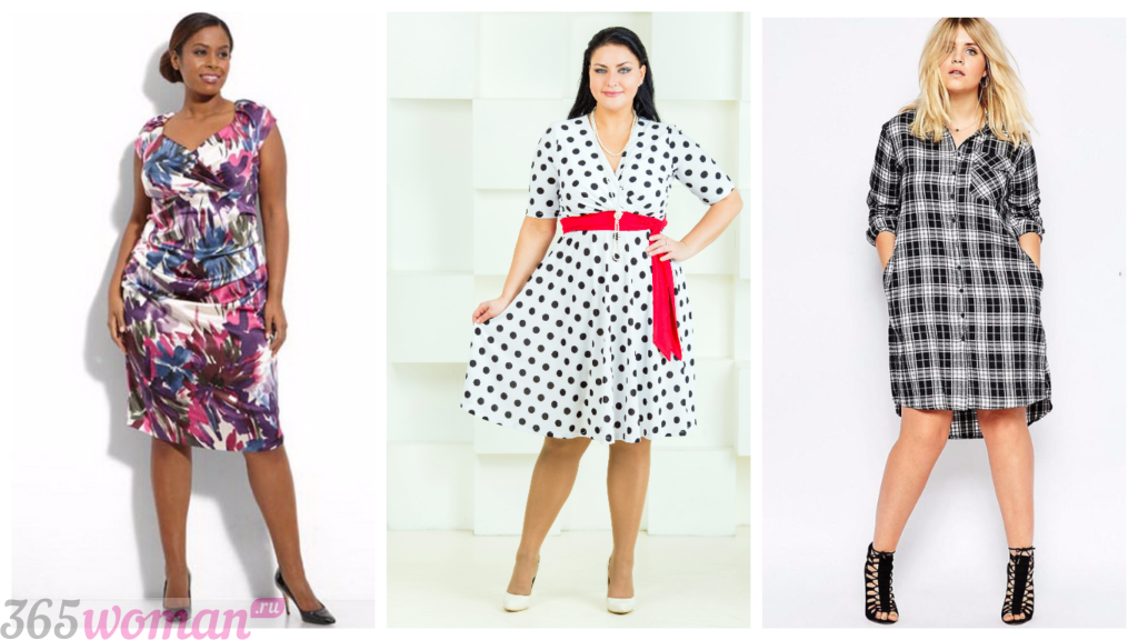 мода платья для полных женщин 2018 2019 принт