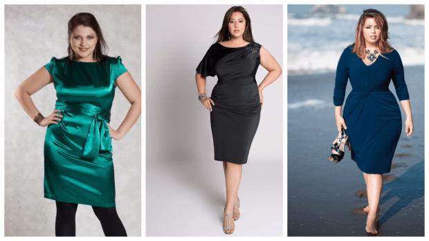 стильные платья для полных женщин 2019 2020