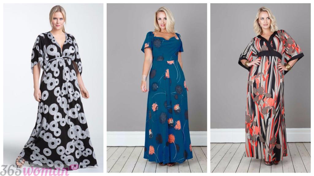 длинные платья для полных женщин 2018 2019