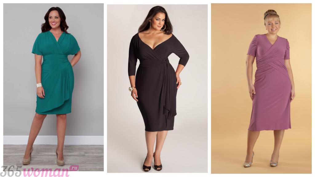 платья с запахом для полных женщин 2018 2019