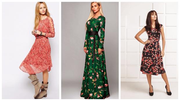 платья с принтом повседневные 2019 2020 мода