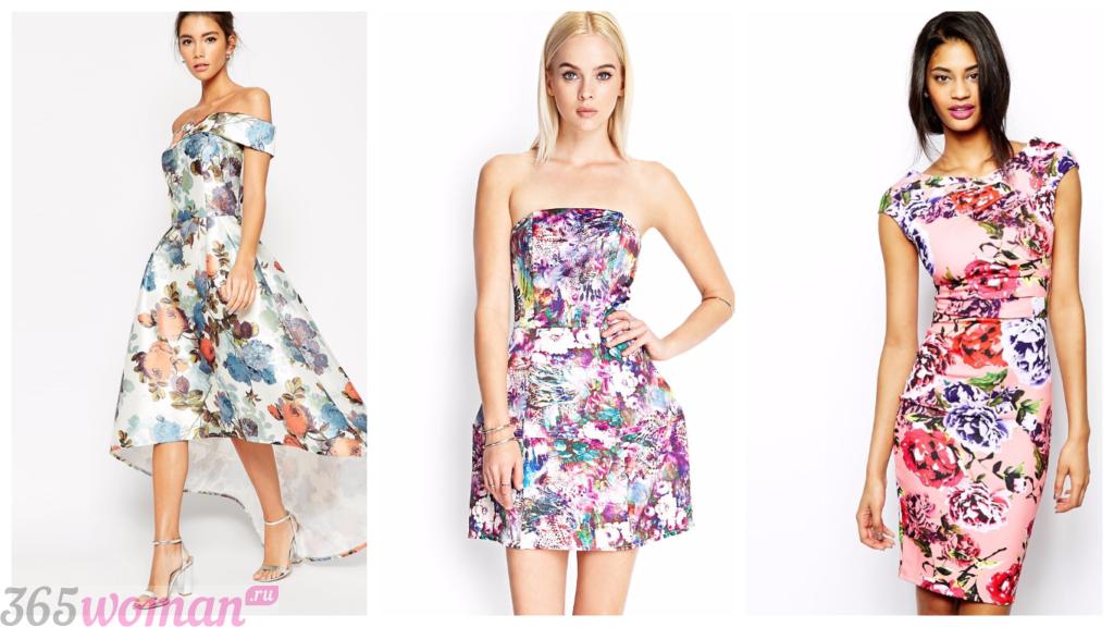 платье принт 2018 2019 модные на каждый день