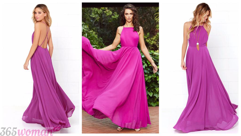 вечерние шифоновые платья