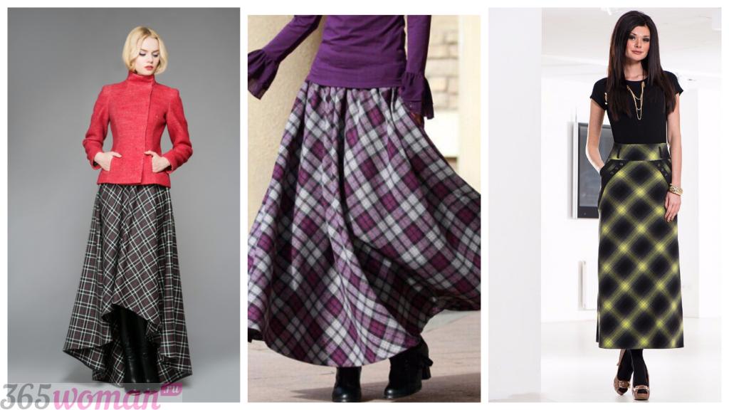 длинная юбка осень-зима 2018 2019 год модные тенденции фото тренды