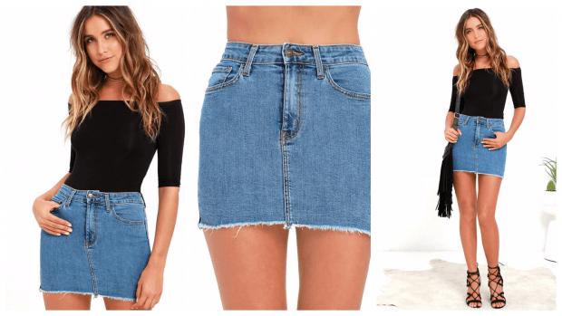 модные юбки осень-зима 2019 2020: короткие джинсовые