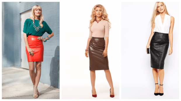 кожаные юбки осень-зима 2019 2020