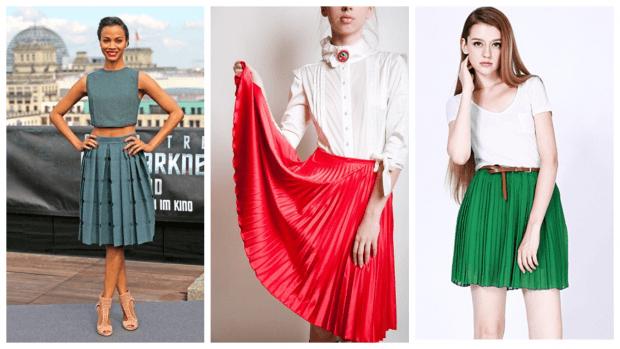 модные юбки осень-зима 2019 2020: цветные плиссе