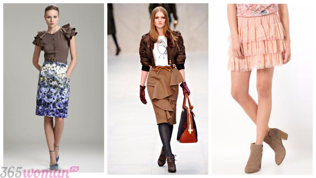юбки с рюшами осень-зима 2018 2019 года модные тенденции фото