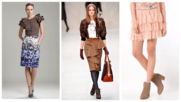 юбки с рюшами осень-зима 2019 2020 года модные тенденции фото