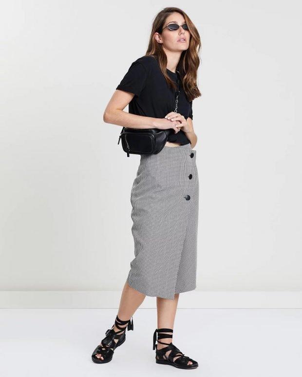 Модные юбки осень-зима 2019 2020: серая